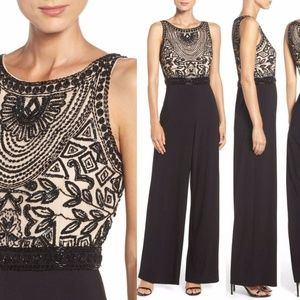 NEW Adrianna Papell Embellished Jersey Jumpsuit 6